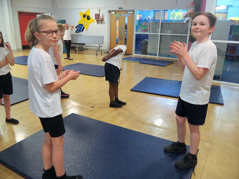 Children in PE lessons