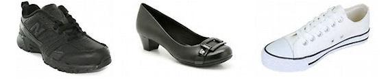 Unacceptable shoe examples